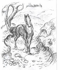 Marc - Pferd in Landschaft