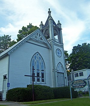 First Presbyterian Church of Margaretville - East elevation, 2008