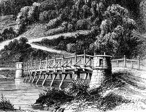 Pile bridge - Image: Marienbergbrücke near Nordstemmen 1867