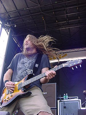 Lamb of God (band) - Guitarist Mark Morton performing at 2004's Ozzfest