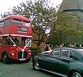 Marshopper Routemaster bus RML2532 (JJD 532D) and wedding car, 4 May 2011.jpg