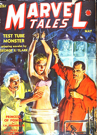 Marvel Tales - Red Circle's Marvel Tales (May 1940). Cover artist unknown.