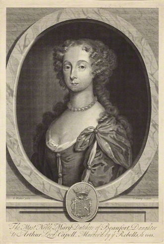 Mary Somerset, Duchess of Beaufort (1630–1715) - Engraving by Joseph Nutting after Robert Walker