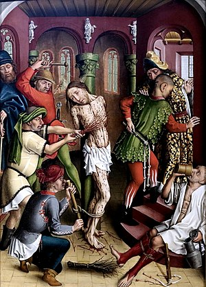 Master of the Karlsruhe Passion - Image: Master of the Karlsruhe Passion Flagellation of Christ