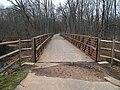 Mattabesset River Bike Path bridge, December 2016.JPG