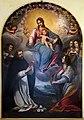 Matteo Rosselli, madonna del rosario coi ss. domenico, caterina d'a., antonio da pd. e agata, 1620-30 ca. 01.jpg