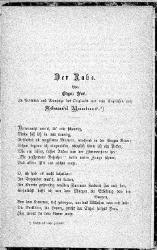 Edgar Allan Poe: Deutsch: Der Rabe.