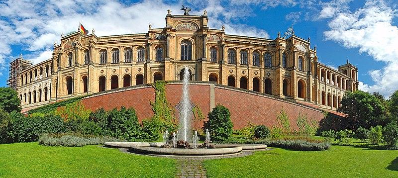File:Maximilianeum - Frontseite - Panorama.jpg