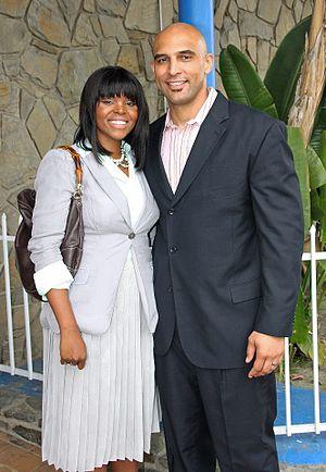 Aja Brown - Mayor Brown and husband, Van.