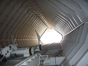 McMath–Pierce solar telescope - The inside of the slanted shaft