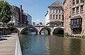 Mechelen, de Dijle vanaf de Zoutwerf westelijk deel IMG 0140 2019-06-23 13.56.jpg