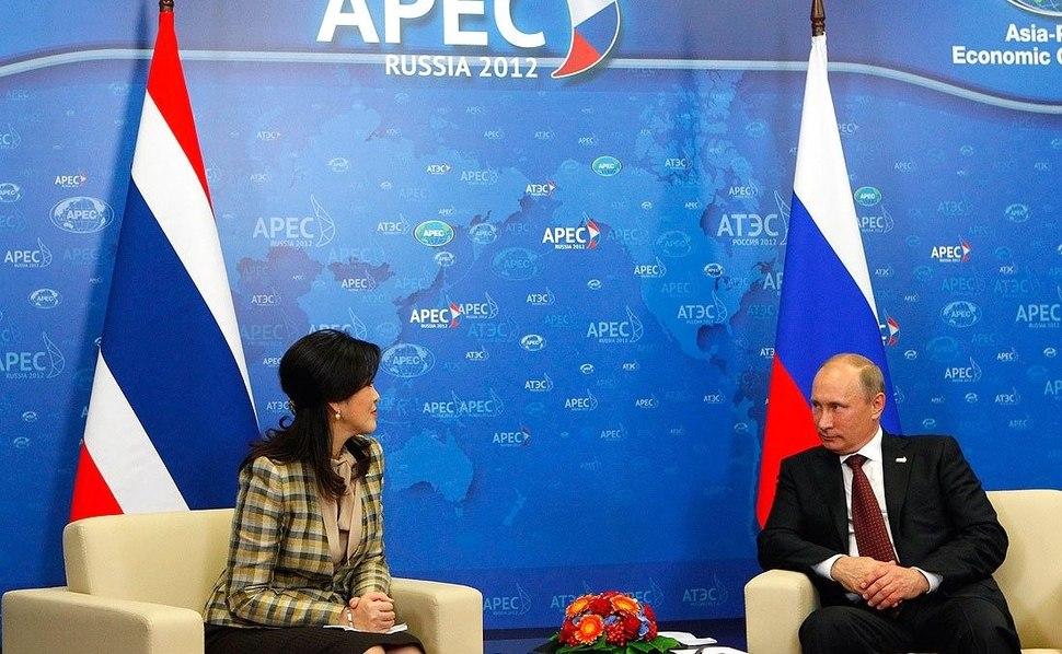 Meeting with Prime Minister of Thailand Yingluck Shinawatra and Vladimir Putin 03