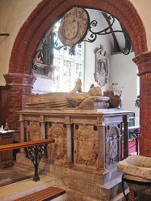 John Petre, 1st Baron Petre - The tomb of Lord Petre and Mary, Ingatestone Parish Church