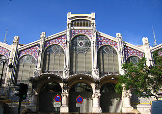 Valencian Art Nouveau - Central Market, in Valencia.