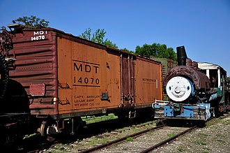 Merchants Despatch - Preserved MDT car in a rail museum. Car is ca. 1958.