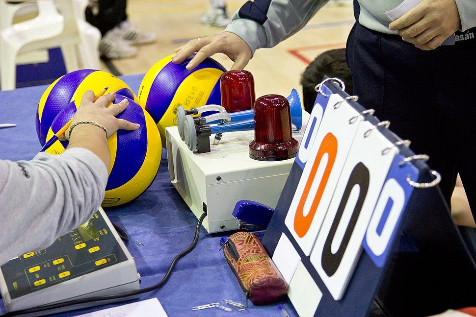 Mesa de anotadores de voleibol
