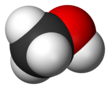 Spacefill model o methanol