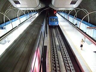 Cantagalo Station metro station in Rio de Janeiro, Brazil