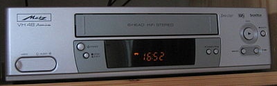 A VHS VCR manufactured by Metz.