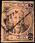 Mexico 1868 6c Sc46 used.jpg