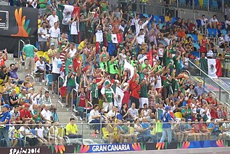 Mexico national basketball team - Fans of Team Mexico at the 2014 Basketball World Cup