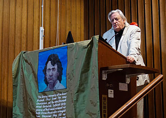 Michael Mansfield - Mansfield gives the first Gerry Conlon Memorial Lecture at St. Mary's College Belfast