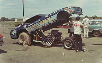 Mickey Thompson - Thompson campaigned a funny car in 1971.