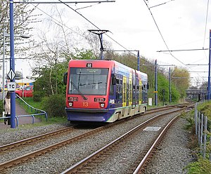 Midland Metro - T-69 on the former Birmingham Snow Hill to Wolverhampton Low Level Line
