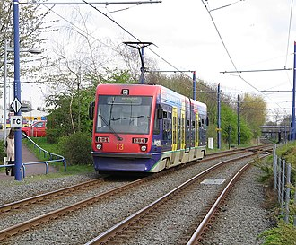 West Midlands Metro - T-69 on the former Birmingham Snow Hill to Wolverhampton Low Level Line