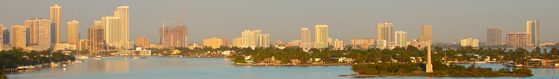 Midtown Miami skyline as seen from Miami Beach in January 2008