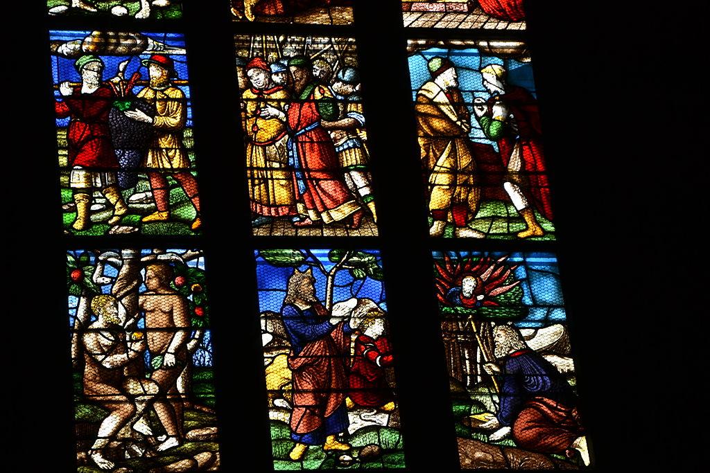 Milano, Duomo, Vetrata del Vecchio Testamento, navata destra, XV secolo