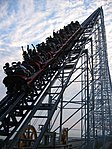 Millennium Force red train lift hill.jpg