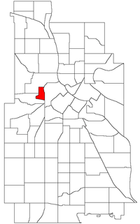 Location of Sumner-Glenwood within the U.S. city of Minneapolis