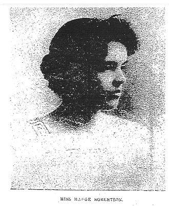 Margaret Robertson Watt - Madge Robertson, writer, 1893