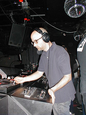 Moby - Moby performs a DJ set at NASA Rewind March 4, 2004, in New York City