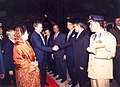 Mohammad Mosaddak Ali met with Prime Minister of United Kingdom (UK) Tony Blair at Zia International Airport in Dhaka.jpg