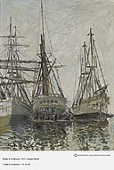 Monet - Boats in a Harbour, About 1873.jpg