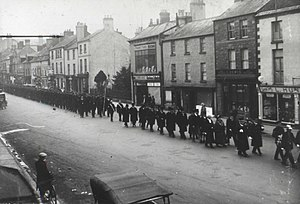 Monmouth Police Station - April 1931 funeral procession for William Bullock, Superintendent of Police
