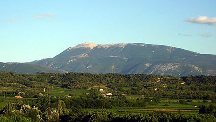 View of Mont Ventoux from Mirabel-aux-Baronnies. Mont ventoux from mirabel.jpg
