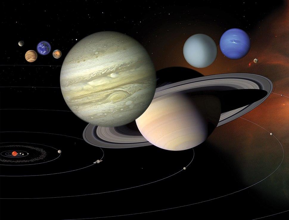 Montagem Sistema Solar