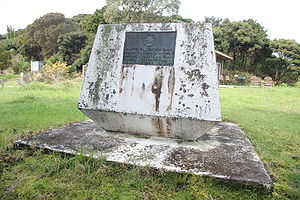 "Marc-Joseph Marion du Fresne - Monument to the memory of Marc-Joseph Marion du Fresne and his party at Te Hue Bay, ""Assassination cove"""