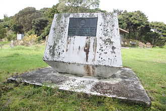 """Marc-Joseph Marion du Fresne - Monument to the memory of Marc-Joseph Marion du Fresne and his party at Te Hue Bay, """"Assassination cove"""""""