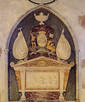 Baron Hawke - Upper part of memorial of 1781