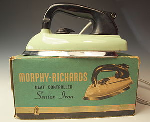 Morphy Richards - A 1950s Morphy-:Richards iron with original box