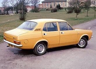 Morris Marina - 1973 Morris Marina 4-door saloon in England