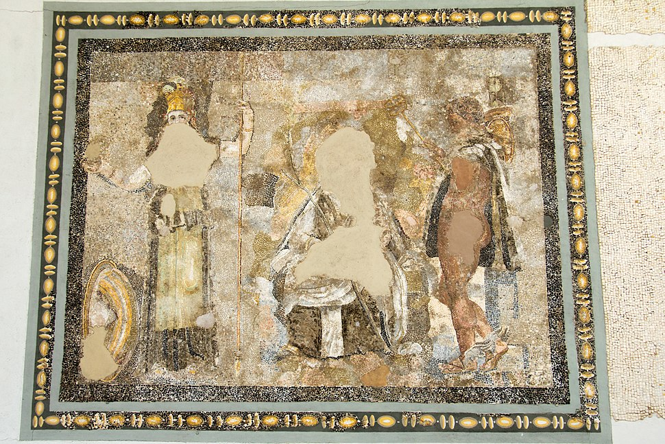 Mosaic with Athena Hermes, Delos,143438