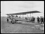 Mr Griffith in machine ready for flight, Richmond State Aerodrome (19465082040).jpg