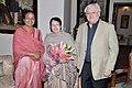 Mrs. Anita Bose Pfaff, daughter of Netaji Subhas Chandra Bose and her husband Prof. Martin Pfaff called on the Speaker, Lok Sabha, Smt. Meira Kumar, in New Delhi on February 02, 2013.jpg