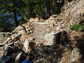 Much of Spruce Trail is rough and requires navigating around boulders (29130286824).jpg