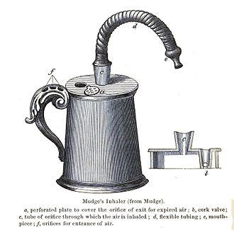 Inhaler - Inhaler designed by John Mudge in 1778.